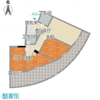 晋唐海湾146.83㎡酒店D户型3室2厅2卫1厨