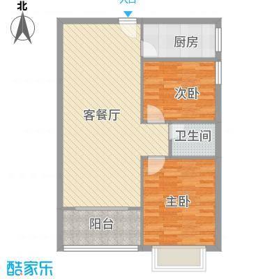 南天・太阳城8.51㎡(6号室)户型2室2厅1卫1厨