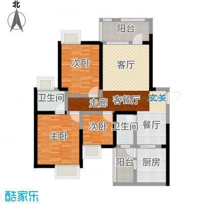 司南3空间11.00㎡12号楼K户型3室2厅2卫1厨