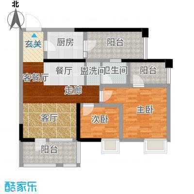 司南3空间8.00㎡12号楼M户型2室1厅1卫1厨