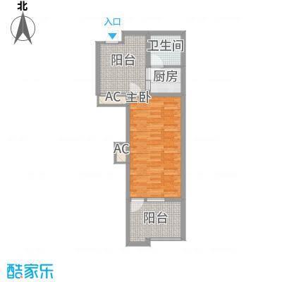 龙潭・温泉印象5.10㎡J户型1室2厅1卫1厨