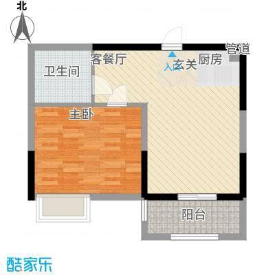 御景龙庭62.10㎡A1户型1室2厅1卫