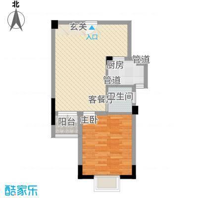 官塘世家6.10㎡B1-1户型1室2厅