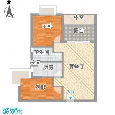 合兴福邸73.00㎡A户型2室2厅1卫1厨