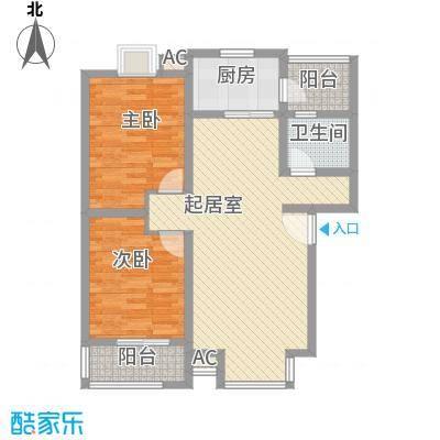 丹桂苑85.52㎡户型