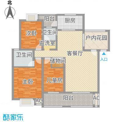 丹桂苑135.80㎡户型