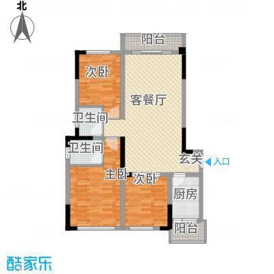 阳光城16.80㎡三期B区A1户型3室2厅2卫1厨