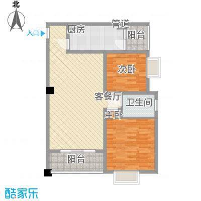 时代大厦85.00㎡2户型2室2厅1卫1厨