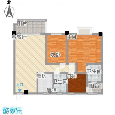 时代大厦13.00㎡1户型3室2厅2卫1厨