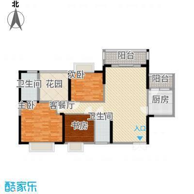 广汇东湖城117.17㎡13号楼A户型3室2厅1卫1厨