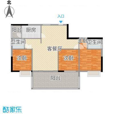 广汇东湖城125.00㎡1#楼广汇大厦05户型3室2厅2卫1厨