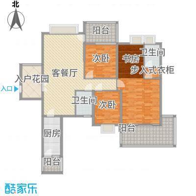 广汇东湖城137.46㎡2#偶数层户型3室2厅2卫