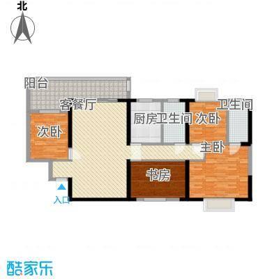 广汇东湖城133.81㎡9号楼A-5户型4室2厅2卫1厨