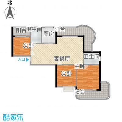 广汇东湖城111.86㎡10号楼A-4户型3室2厅2卫1厨