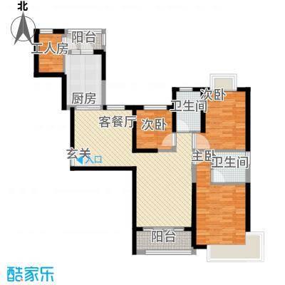 防城港恒大御景湾125.81㎡7-1号楼D户型3室2厅2卫1厨