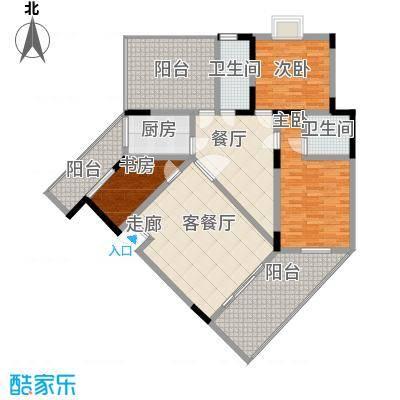 和谐家园135.40㎡F-1户型3室2厅2卫1厨
