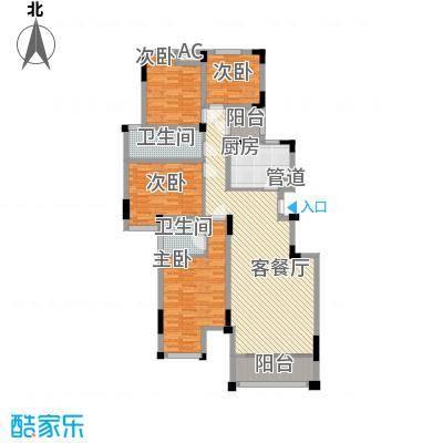 锦江新天地13.26㎡F户型4室2厅2卫1厨