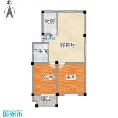天一花园8.00㎡A户型2室2厅1卫1厨