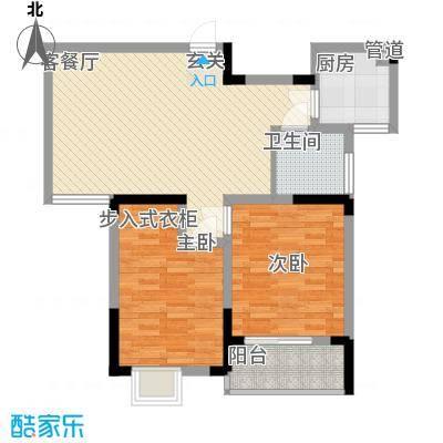 怡景花园82.60㎡H2户型2室2厅1卫1厨