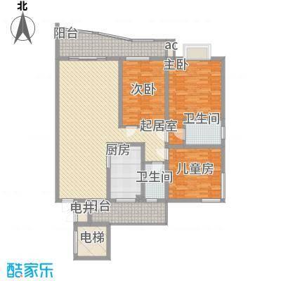 乐天花园11户型3室2厅2卫1厨