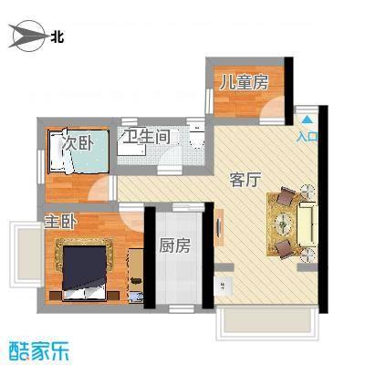 70㎡户型3室1厅1卫--香溪庄