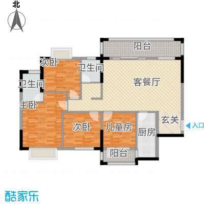 九个半岛135.80㎡A2户型4室2厅2卫1厨