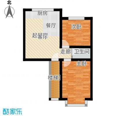 西河花苑75.00㎡H户型2室1厅1卫1厨