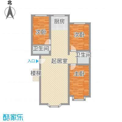 西河花苑11.00㎡F户型3室2厅2卫1厨