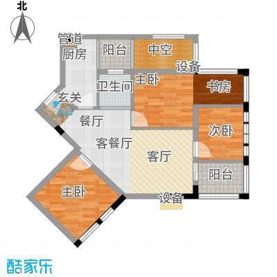 神仙树缤纷75.00㎡C3户型3室2厅1卫-副本