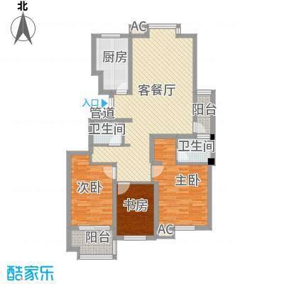 星光城市广场123.00㎡三期B户型3室2厅2卫1厨