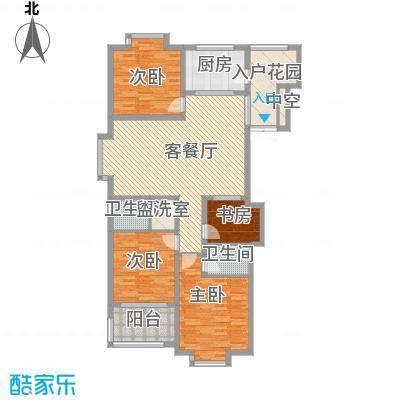 星光城市广场163.00㎡一期9号楼标准层C4户型4室2厅2卫1厨