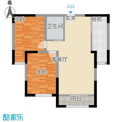融茂第一城5.00㎡一期B户型2室2厅1卫