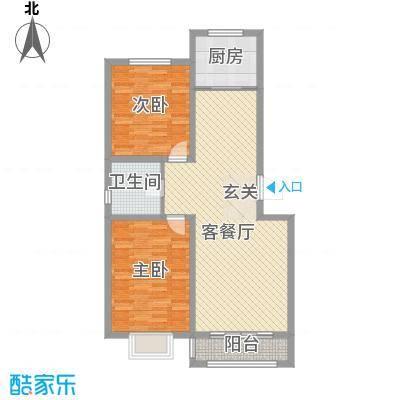 鑫大成・御龙湾13.14㎡C户型2室2厅1卫1厨