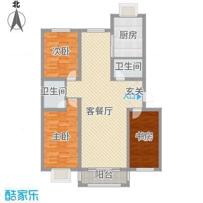 鑫大成・御龙湾125.20㎡D户型3室2厅2卫1厨