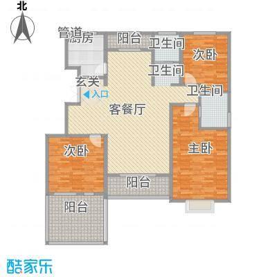 黄河龙城・半岛御境145.32㎡洋房G2户型3室2厅2卫1厨