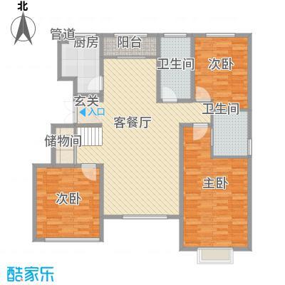 黄河龙城・半岛御境128.70㎡洋房F3户型5室3厅3卫1厨