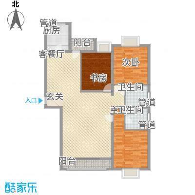 绿海印象127.00㎡一期B1、C1、C7户型3室2厅2卫1厨