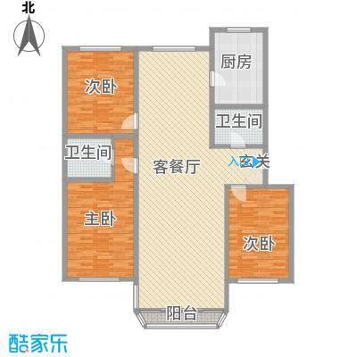 鹿鸣苑146.00㎡L户型3室2厅1卫1厨