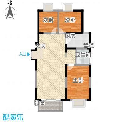江南文枢苑115.00㎡K户型3室2厅1卫