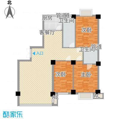 恒隆公馆153.00㎡B2户型3室2厅2卫