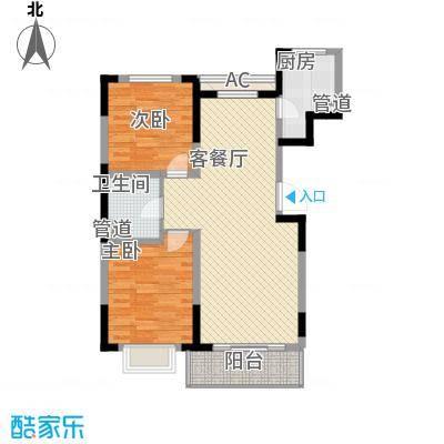 保利花园2-b户型2室2厅1卫
