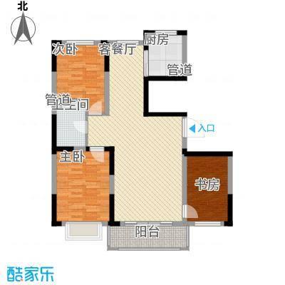 保利花园111.78㎡3-b户型3室2厅1卫