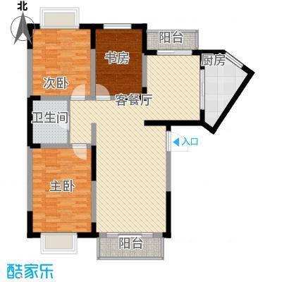 保利花园121.30㎡m户型3室2厅1卫1厨