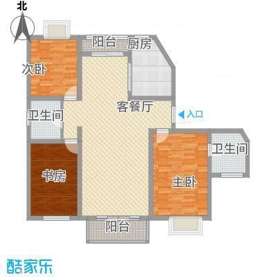 保利花园136.80㎡L户型3室2厅2卫1厨