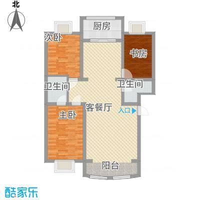 宁鹿水岸121.00㎡C户型3室2厅2卫1厨