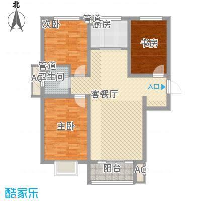 沃土・阳光二期11.00㎡F1户型3室2厅1卫1厨
