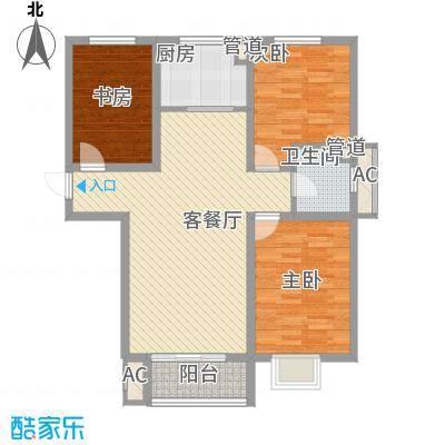 沃土・阳光二期11.00㎡F3户型3室2厅1卫1厨