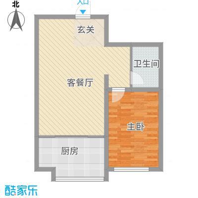 胜源滨河新城二期・泰茂天地83.13㎡D户型1室1厅1卫1厨