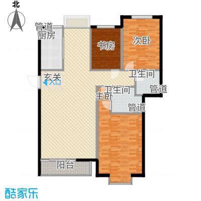 3克拉158.00㎡F户型2室2厅2卫1厨