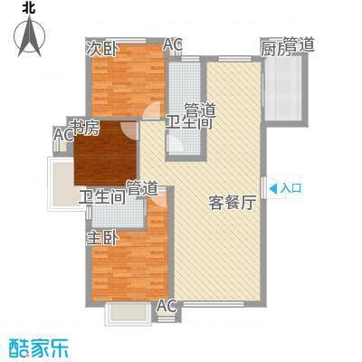 东亚世纪城・凯旋公元11.27㎡2户型3室2厅2卫1厨
